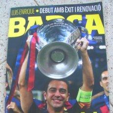 Coleccionismo deportivo: REVISTA BARÇA N,75 PORTADA TRIPLET HISTORIC. Lote 189942881