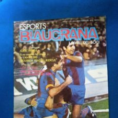 Coleccionismo deportivo: REVISTA SPORTS BLAUGRANA Nº1 FUTBOL POLITICA BARCELONA BARÇA EXCELENTE ESTADO DE CONSERVACION. Lote 190123371