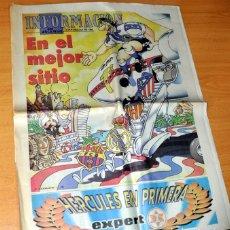 Coleccionismo deportivo: DIARIO INFORMACIÓN DE ALICANTE: EL ASCENSO A PRIMERA DIVISIÓN DEL HÉRCULES C.F. TEMPORADA 95-96. Lote 190243011