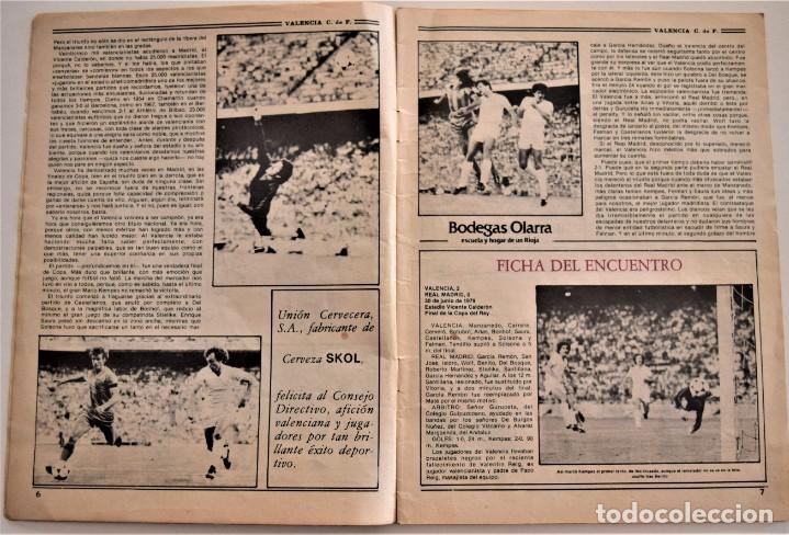 Coleccionismo deportivo: REVISTA MENSUAL VALENCIA CLUB DE FÚTBOL Nº 30-31 VERANO 1979 - CAMPEONES COPA DEL REY (VER DESCRIPC) - Foto 4 - 190615985