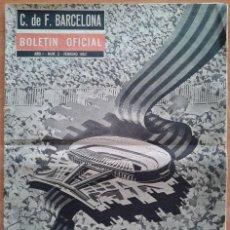 Coleccionismo deportivo: CLUB DE FÚTBOL BARCELONA : BOLETÍN OFICIAL Nº 2 FEBRERO 1962. Lote 190794297