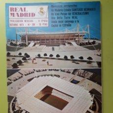 Coleccionismo deportivo: 281 OCTUBRE 1973 NÚMERO ESPECIAL SANTIAGO BERNABÉU REVISTA REAL MADRID PUBLICACIÓN MENSUAL. Lote 191275051