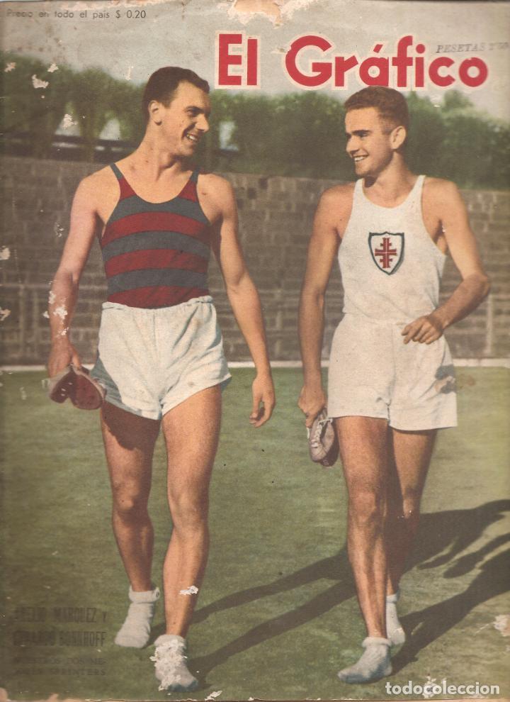 872. EL GRAFICO 30 DE NOVIEMBRE DE 1945. (Coleccionismo Deportivo - Revistas y Periódicos - otros Fútbol)