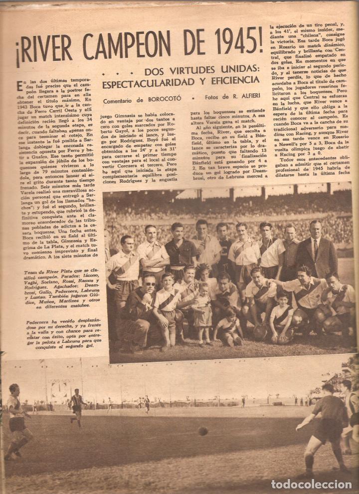 Coleccionismo deportivo: 872. EL GRAFICO 30 DE NOVIEMBRE DE 1945. - Foto 3 - 191298835