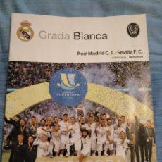 Coleccionismo deportivo: REAL MADRID - SEVILLA 18/01/2020 GRADA BLANCA PROGRAMME POSTER CAMPEÓN SUPERCOPA. Lote 191514673