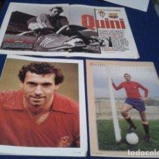 Coleccionismo deportivo: MINI POSTER ( QUINI - EL BRUJO ) 6 HOJAS REVISTA . Lote 192845242