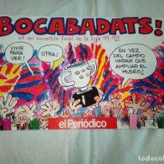 Coleccionismo deportivo: 15-EL PERIODICO BOCABADATS, 1992. Lote 193759938
