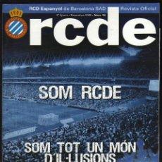 Colecionismo desportivo: RCDE Nº 34, REVISTA OFICIAL DEL RCD ESPANYOL DE BARCELONA - DICIEMBRE, 2009 - 52 PÁGINAS EN CATALÁN. Lote 193836193