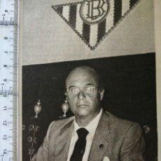 Coleccionismo deportivo: JUAN M. MAUDUIT, TRAS QUINCE AÑOS EN EL REAL BETIS BALOMPIE.(RECORTE PRENSA). Lote 194200007
