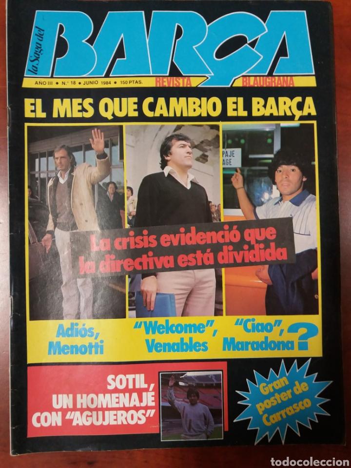 REVISTA BARÇA MARADONA LOBO CARRASCO 1984 (Coleccionismo Deportivo - Revistas y Periódicos - otros Fútbol)
