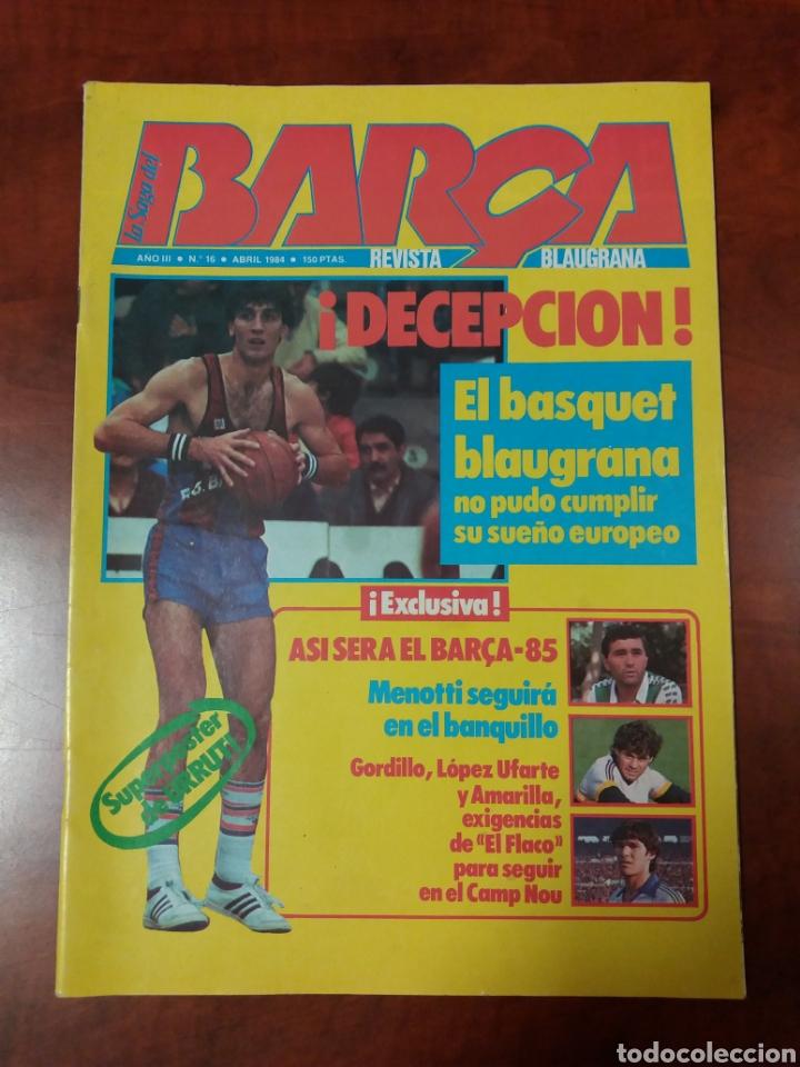REVISTA BARÇA 1984 (Coleccionismo Deportivo - Revistas y Periódicos - otros Fútbol)