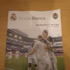 Coleccionismo deportivo: REAL MADRID - CELTA VIGO 16-02-2020 GRADA BLANCA PROGRAMA POSTER MODRIC. Lote 194251748