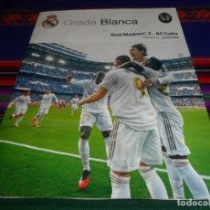 Coleccionismo deportivo: GRADA BLANCA REAL MADRID REAL CLUB CELTA DE VIGO. 16-2-2020. JORNADA 24. PÓSTER LUKA MODRIC. MBE.. Lote 194260585