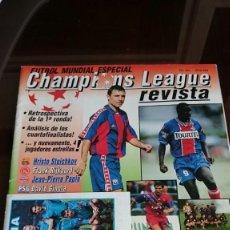 Coleccionismo deportivo: REVISTA CHAMPIONS LEAGUE MUNDIAL ESPECIAL # 401 CON CROMO ONCE ALINEACION BARCELONA STOICHKOV. Lote 194279638