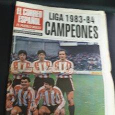 Coleccionismo deportivo: EL CORREO ESPAÑOL LIGA 1983-84 CAMPEONES 24 PÁGINAS. Lote 194311732