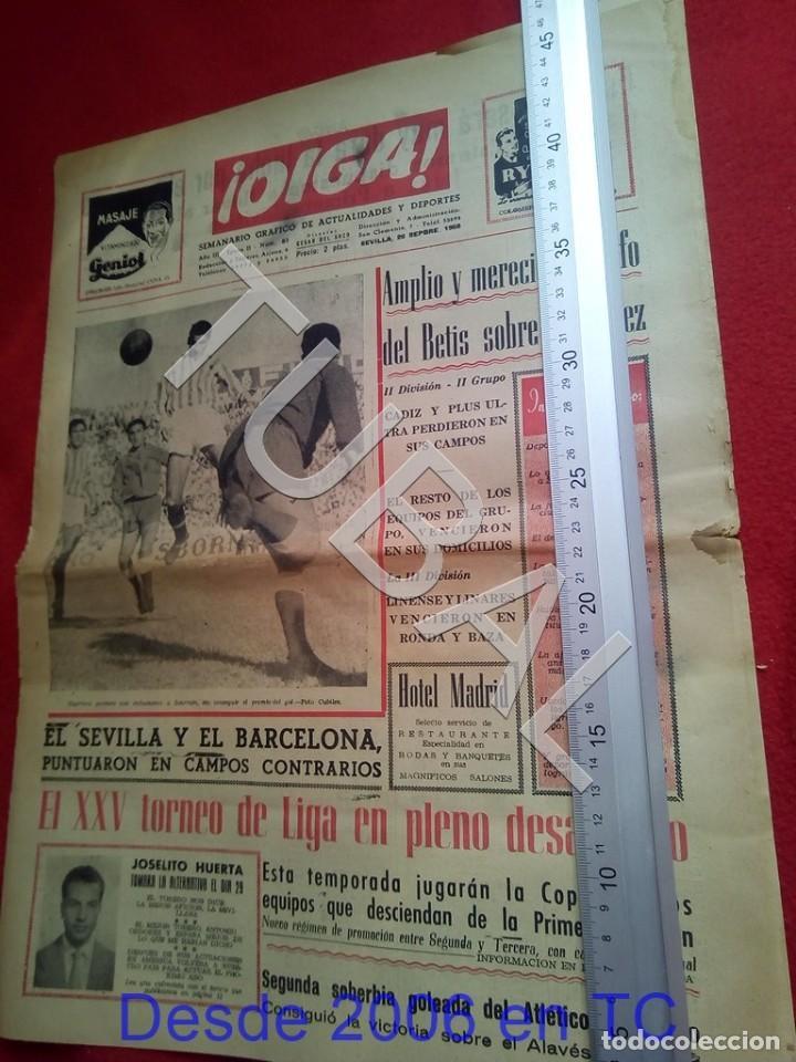 TUBAL BETIS SEVILLA OIGA 87 REVISTA DE FUTBOL 1955 (Coleccionismo Deportivo - Revistas y Periódicos - otros Fútbol)