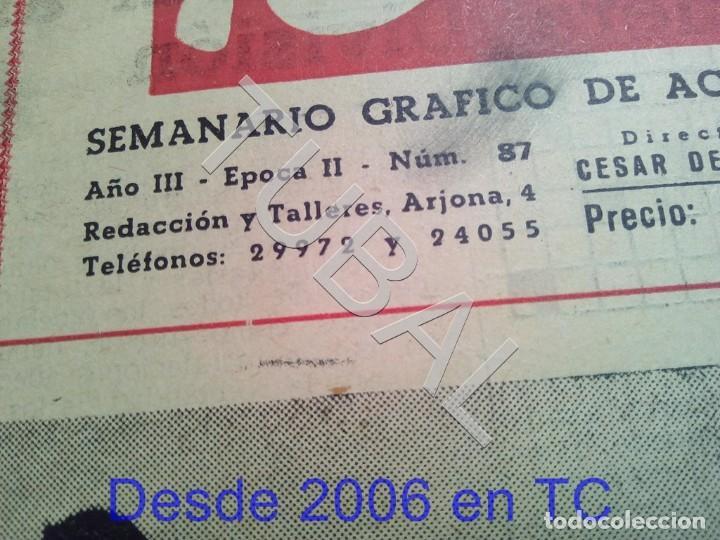 Coleccionismo deportivo: TUBAL BETIS SEVILLA OIGA 87 REVISTA DE FUTBOL 1955 - Foto 2 - 194614568