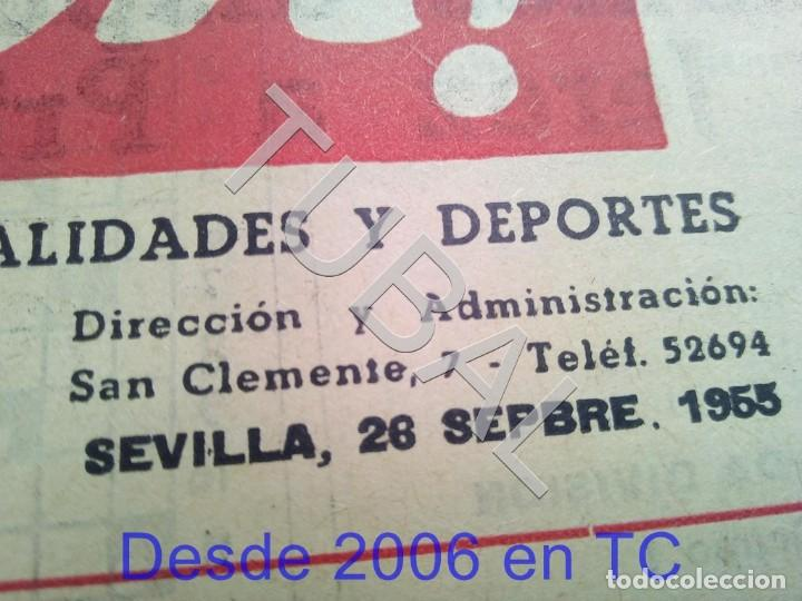Coleccionismo deportivo: TUBAL BETIS SEVILLA OIGA 87 REVISTA DE FUTBOL 1955 - Foto 3 - 194614568