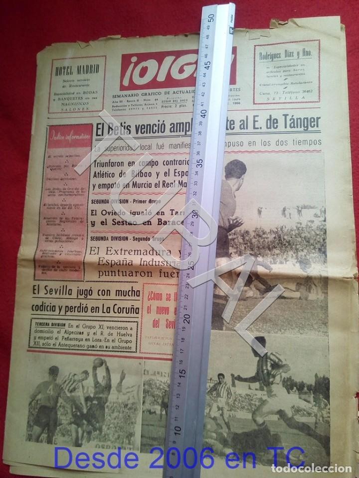 Coleccionismo deportivo: TUBAL BETIS SEVILLA OIGA 91 REVISTA DE FUTBOL 1955 - Foto 2 - 194614758