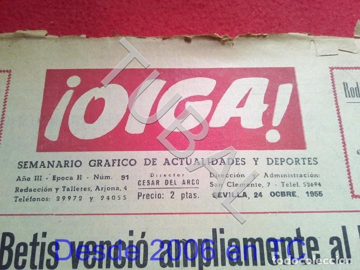 Coleccionismo deportivo: TUBAL BETIS SEVILLA OIGA 91 REVISTA DE FUTBOL 1955 - Foto 3 - 194614758