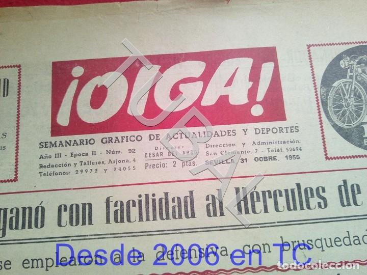 Coleccionismo deportivo: TUBAL BETIS SEVILLA OIGA 92 REVISTA DE FUTBOL 1955 - Foto 2 - 194615007