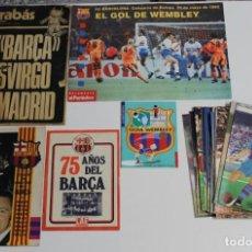 Coleccionismo deportivo: COLECCIÓN REVISTAS F.C. BARCELONA. ABC HISTORIA VIVA. DICEN... BARRABÁS. GOL, GUIA WEMBLEY. 75 AÑOS . Lote 194704381