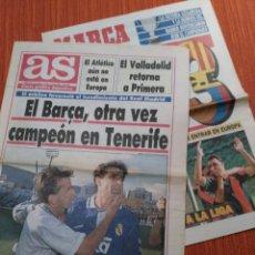 Coleccionismo deportivo: AS Y MARCA SOLO PORTADAS. 21 JUNIO 1993. MADRID ADIÓS LIGA EN TENERIFE. RESURRECCIONLOWCOST. Lote 194714538
