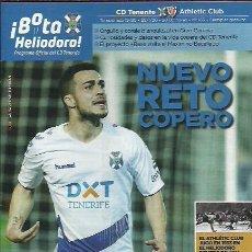 Coleccionismo deportivo: BOTA HELIODORO Nº 163.CD TENERIFE-ATHLETIC DE BILBAO.28/1/20.16 PÁGINAS.. Lote 194750433