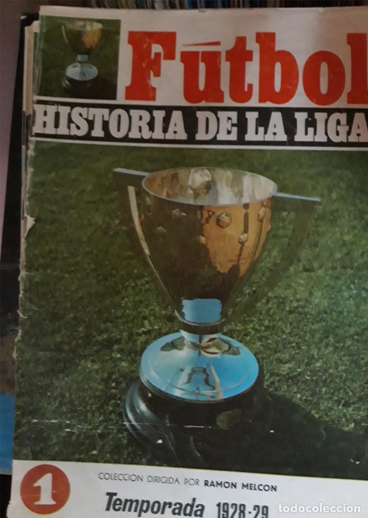 REVISTAS TIPO FASCÍCULOS DE LA HISTORIA DE LA LIGA ESPAÑOLA (Coleccionismo Deportivo - Revistas y Periódicos - otros Fútbol)