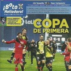 Coleccionismo deportivo: BOTA HELIODORO Nº 162.CD TENERIFE-REAL VALLADOLID.22/1/20.COPA DE PRIMERA.. Lote 194891492
