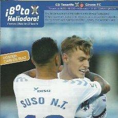Coleccionismo deportivo: BOTA HELIODORO Nº 161.CD TENERIFE-GIRONA CF.19/1/20.CARLOS RUIZ.. Lote 194891712