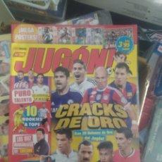 Coleccionismo deportivo: 2 REVISTAS FUTBOL JUGON Nº 98 Y 99 CON LOS 48 CROMOS CRACKS DE JUGON. Lote 194938393