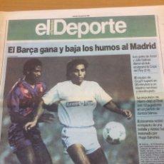 Coleccionismo deportivo: BARÇA COPA 1990 - EL PERIÓDICO-. Lote 194954475