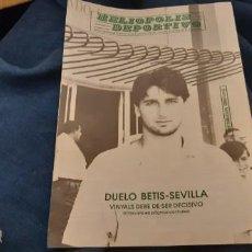 Coleccionismo deportivo: N 28 REVISTA HELIOPOLIS DEPORTIVO REAL BETIS SEVILLA DERBI 30 SEPTIEMBRE 1990. Lote 195058515