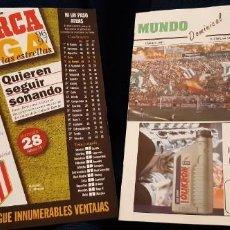 Coleccionismo deportivo: REVISTA MUNDO BÉTICO N 14 REAL BETIS AT. MADRID 9 MARZO 1997 Y HOJILLA MARCA LIGA ESTRELLAS . Lote 195058712