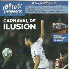 Coleccionismo deportivo: BOTA HELIODORO Nº 166.CD TENERIFE-ELCHE CF.22/02/20.NINO/JULITO.CARNAVAL DE ILUSIÓN.LIGA SMARTBANK.. Lote 195058887