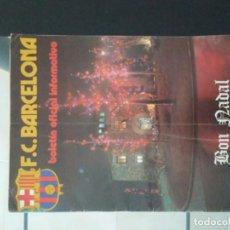 Coleccionismo deportivo: BOLETIN OFICIAL INFORMATIVO F.C.B.. Lote 195093006