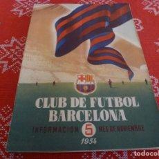 Coleccionismo deportivo: (ENC) BOLETÍN F.C.BARCELONA NOVIEMBRE-1954- ESTÁ EN MARCHA EL NUEVO ESTADIO CAMP NOU DEL BARÇA. Lote 195118445