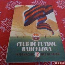 Coleccionismo deportivo: (ENC) BOLETÍN F.C.BARCELONA ENERO-1955- ESTÁ EN MARCHA EL NUEVO ESTADIO CAMP NOU DEL BARÇA. Lote 195118980
