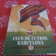Coleccionismo deportivo: (ENC) BOLETÍN F.C.BARCELONA MARZO-1955- ESTÁ EN MARCHA EL NUEVO ESTADIO CAMP NOU DEL BARÇA. Lote 195119097