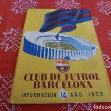 Coleccionismo deportivo: (ENC) BOLETÍN F.C.BARCELONA Nº: 14-1956- ESTÁ EN MARCHA EL NUEVO ESTADIO CAMP NOU DEL BARÇA. Lote 195119813