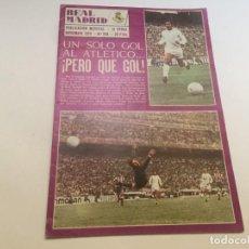 Coleccionismo deportivo: REVISTA REAL MADRID Nº 294 NOVIEMBRE 1974 AUSTRIA VIENA RECOPA FRAM. Lote 195159691