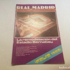 Coleccionismo deportivo: REVISTA REAL MADRID Nº 356 ENERO 1980 REMODELACION ESTADIO BERNABEU. Lote 195159822
