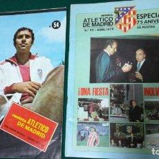 Coleccionismo deportivo: DOS REVISTAS ATLÉTICO DE MADRID, NUM 54, 92, ESPECIAL ANIVERSARIO. Lote 195231131
