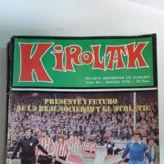 Coleccionismo deportivo: REVISTA KIROLAK NUMERO 85 MARZO 1979 FUTBOL REAL SOCIEDAD ATHLETIC BILBAO ALAVES OSASUNA. Lote 195281103