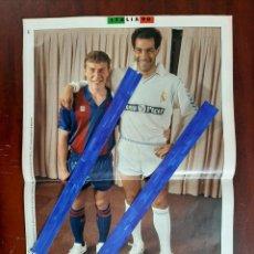 Coleccionismo deportivo: MUNDIAL ITALIA 90 -13 PAG-BUTRAGUEÑO- ANDONI ZUBIZARRETA -CAMACHO ENTREVISTA A LUIS SUAREZ- RECORTE. Lote 195319837
