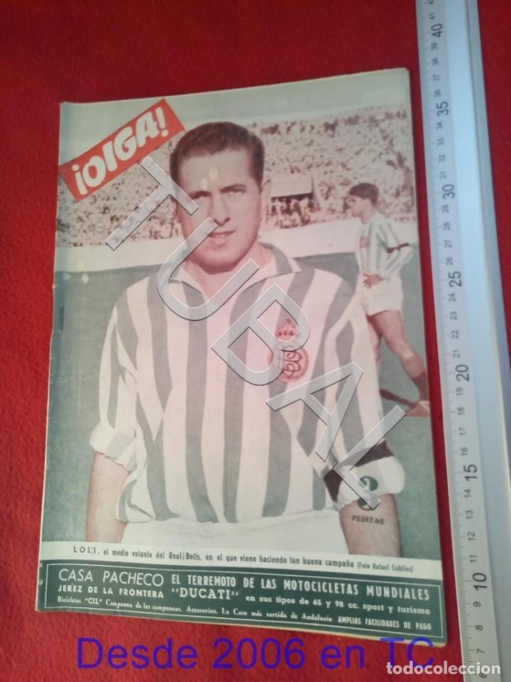 TUBAL OIGA 139 REVISTA FUTBOL 1957 BETIS SEVILLA F C U21 (Coleccionismo Deportivo - Revistas y Periódicos - otros Fútbol)