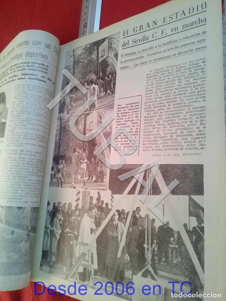 Coleccionismo deportivo: TUBAL OIGA 139 REVISTA FUTBOL 1957 BETIS SEVILLA F C U21 - Foto 2 - 195490381