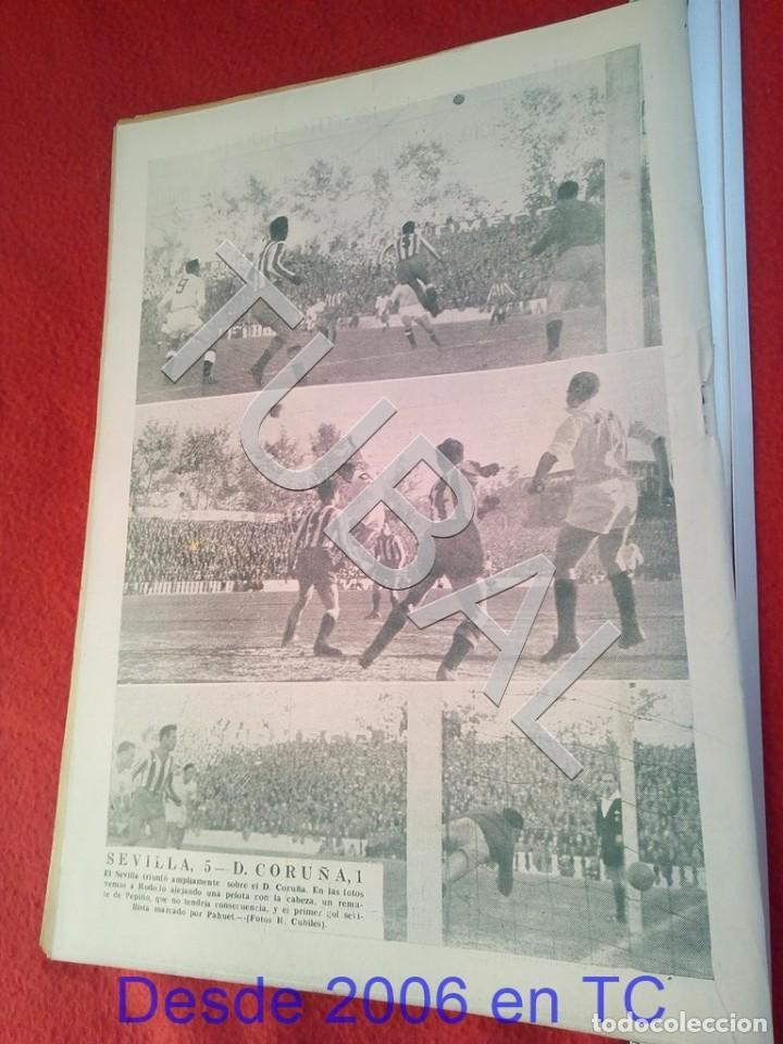 Coleccionismo deportivo: TUBAL OIGA 139 REVISTA FUTBOL 1957 BETIS SEVILLA F C U21 - Foto 3 - 195490381