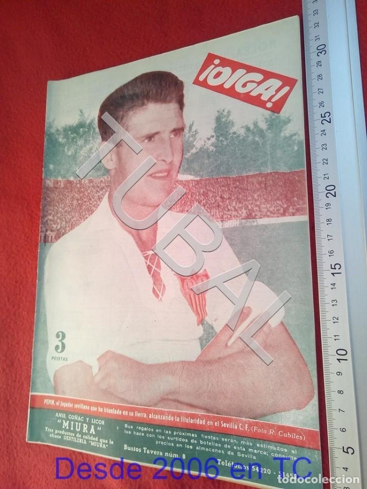 TUBAL OIGA 138 REVISTA FUTBOL 1956 BETIS SEVILLA F C U21 (Coleccionismo Deportivo - Revistas y Periódicos - otros Fútbol)